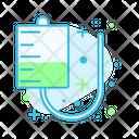 Iv Tube Infusion Medical Icon