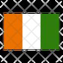 Ivory Coast Flag Nation Icon