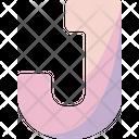 J Sign Alphabet Icon
