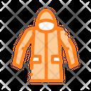Waterproof Material Jacket Icon
