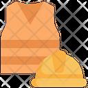 Jacket Helmet Construction Icon