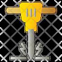 Jackhammer Drill Construction Icon