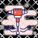 Jackhammer Construction Drill Icon