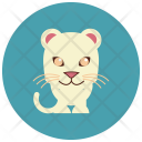 White Jaguar Animal Icon