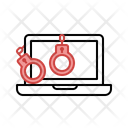 Jail Handcuffs Secure Icon