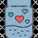Jam Breakfast Heart Icon