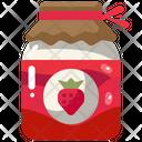 Strawberry Jam Jar Jam Jar Icon