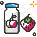 Jam Bottle Strawberry Bottle Icon