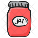 Jam Jar Jelly Spread Bread Jam Icon