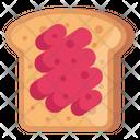 Breakfast Jam Toast Bread Icon