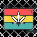 Jamaica Leaf Marijuana Icon