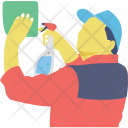 Janitor Cleaner Sweeper Icon