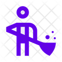 Janitor Cleaning Man Icon