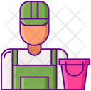 Janitor Cleaner Bucket Icon