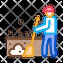 Janitor Sweep Gardener Icon