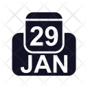 January Calendar Date Icon