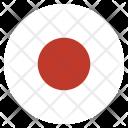 Japan Flag Circle Icon