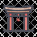 China Gate Japan Landmark Gate Icon
