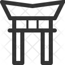 Japanese Gate Building Icon