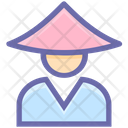 Man Costume Conical Icon