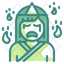 Japanese Ghost Woman Dead Icon