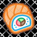 Sushi Roll Japanese Icon