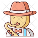 Jazz Sexophone Blowing Icon