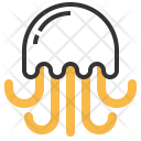 Jellyfish Seafood Food Icon