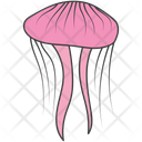 Sea Creature Fish Jellyfish Icon