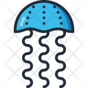 Jellyfish Sea Creature Aquatic Animal Icon