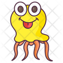 Jellyfish Aquatic Animal Specie Icon