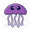 Jellyfish Fish Sea Icon
