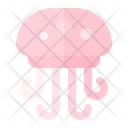 Jellyfish Summer Beach Icon