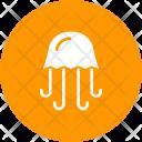 Jellyfish Marine Sea Icon