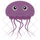 Jellyfish Sea Life Marine Creature Icon