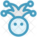 Circus Jester Face Icon
