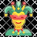 Jester Joke Clown Carnival Brazilian Hat Costume Icon