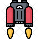 Jetpack Fire Technology Icon