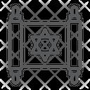 Jewish Torah Rosh Icon