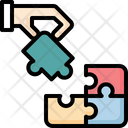 Jigsaw Hand Planning Icon