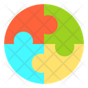 Jigsaw Process Idea Icon