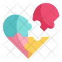 Jigsaw Love And Romance Puzzle Pieces Icon