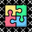 Jigsaw Puzzle Teamwork Icon