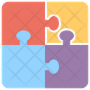 Jigsaw Chart Puzzle Chart Business Graphics Icon