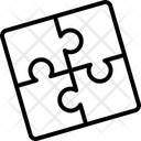 Convolution Puzzle Game Jigsaw Piece Icon