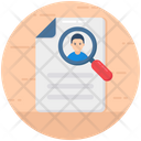 Employee Search Profile Searching Headhunting Icon