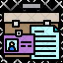 Briefcase Id Card File Icon