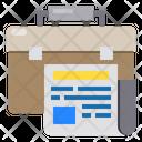 Briefcase Newspaper Icon