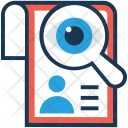 Job Cv Magnifier Icon