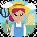 Job And Professions Farmer Female Icon